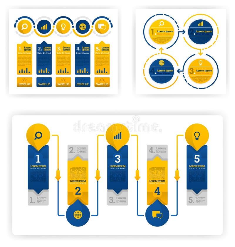 Zbieranie informacji do różnych celów, od działalności gospodarczej, rachunkowości i prezentacji Wektorowa koncepcja płaskiej ilu royalty ilustracja