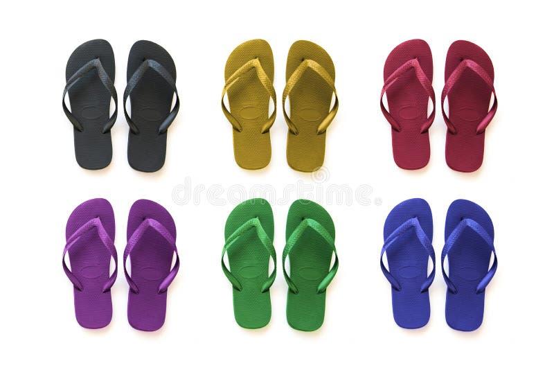 zbieranie kolorowe sandały obrazy royalty free
