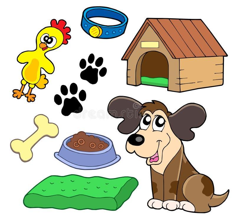 zbieranie psy ilustracja wektor