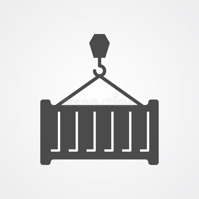 Zbiornik ikony znaka wektorowy symbol ilustracja wektor