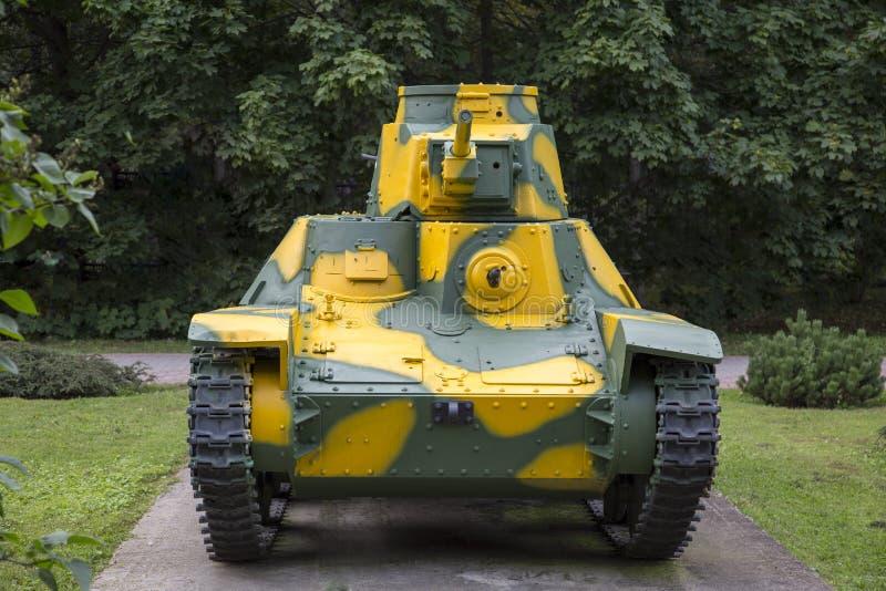 Zbiornik jest lekkim typem 95 HA-GO, Japonia Militarny wyposażenie podczas Drugi wojny światowej zdjęcia stock