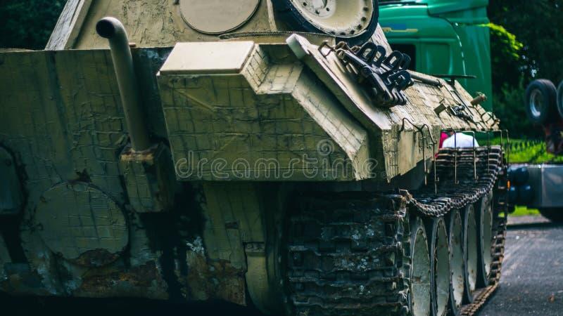 Zbiornik na militarnej wystawie obrazy stock