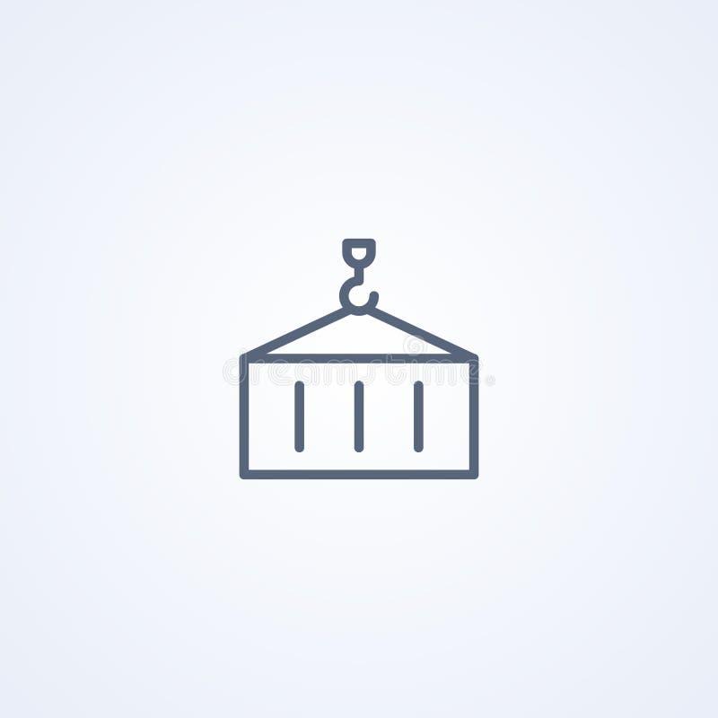 Zbiornik, przemysłowy dystrybucja importa eksport, wektorowe najlepszy szarość wykłada ikonę ilustracji