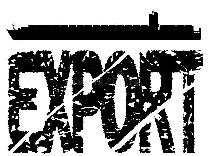 zbiornika eksporta statku tekst royalty ilustracja