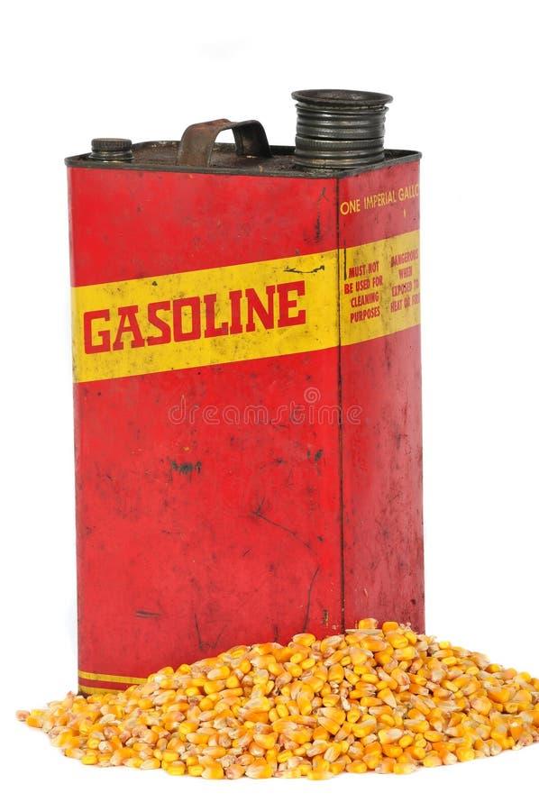 zbiornika kukurydzany etanolu paliwa benzyny rocznik obrazy royalty free