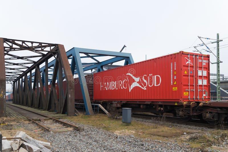 Zbiornika pociąg w Hamburg schronieniu fotografia stock