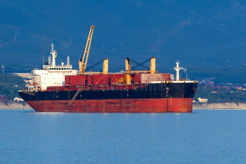 Zbiornika statek, wieczór światło zdjęcie stock