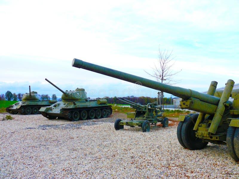 Zbiornika T 32 sowieci bojowa broń WWII zdjęcia royalty free