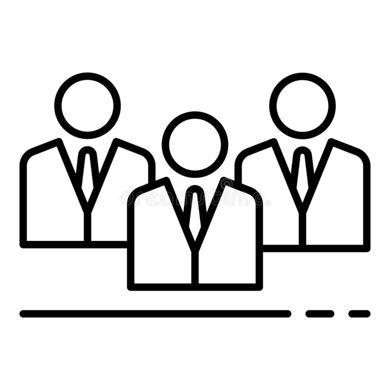 Zbiorowe zarządzanie ikona, konturu styl ilustracja wektor