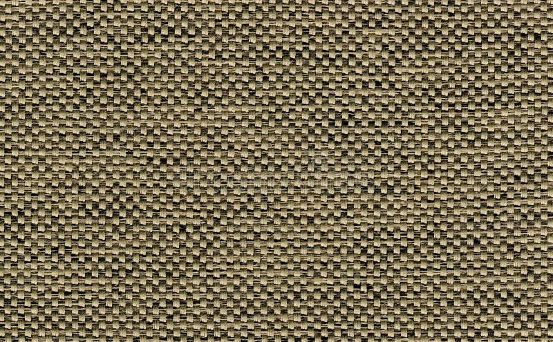 Zbliżenia ciemny brąz z czernią, zieleń, khaki kolor tkaniny próbki tekstury tło Brown tkaniny paska linii wzoru projekt, tapicer obraz royalty free