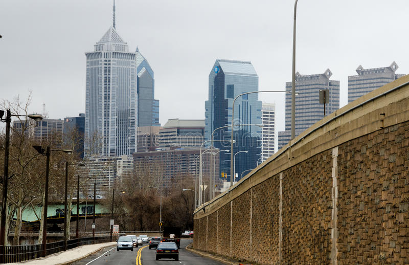 Zbliżać się Filadelfia fotografia royalty free