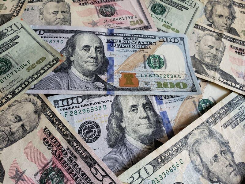 zbliża się Amerykańscy dolary banknoty, tło i teksturę, zdjęcia royalty free