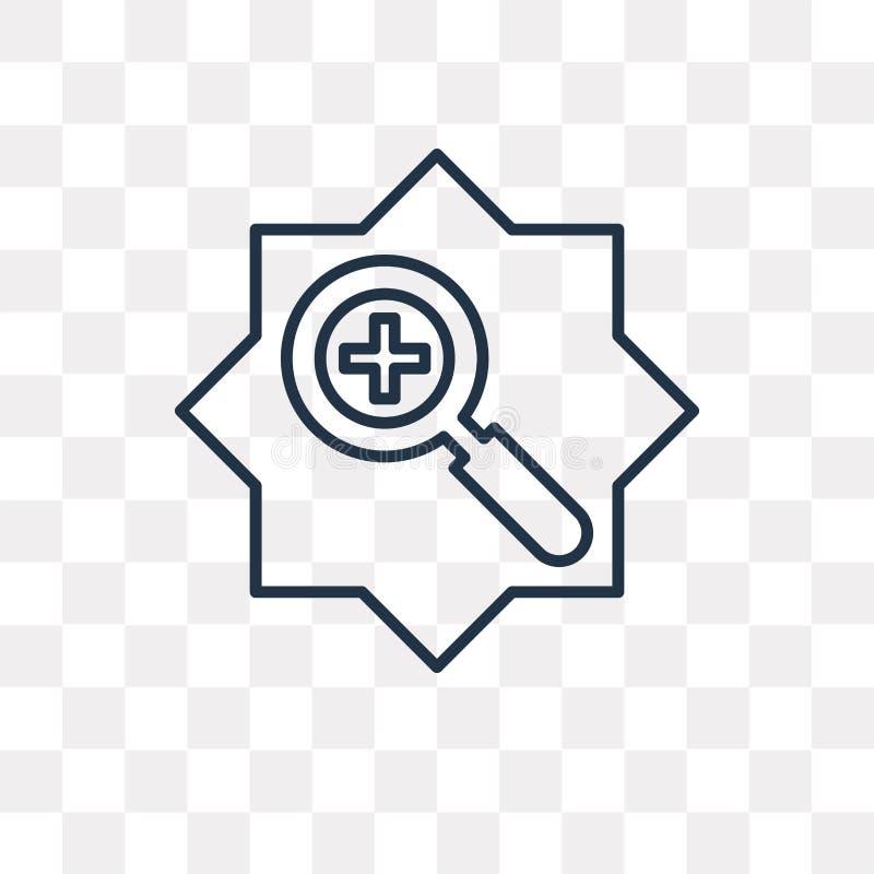 Zbliża wewnątrz wektorową ikonę odizolowywającą na przejrzystym tle, liniowy Z royalty ilustracja