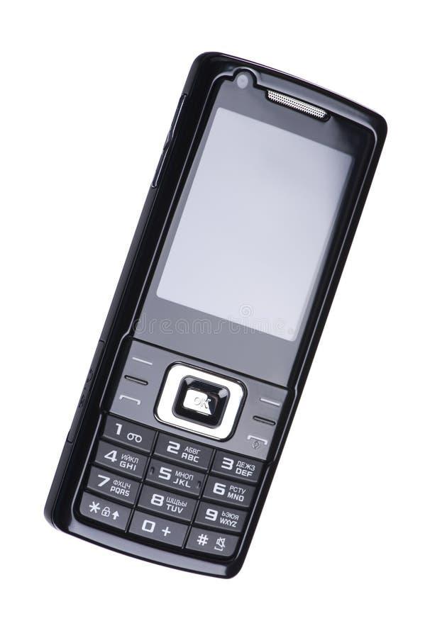 zbliżenia czarny telefon komórkowy fotografia royalty free