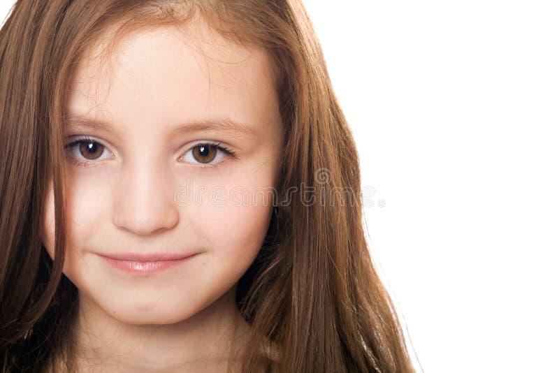 zbliżenia dziewczyny odosobniony mały portret dosyć zdjęcie stock