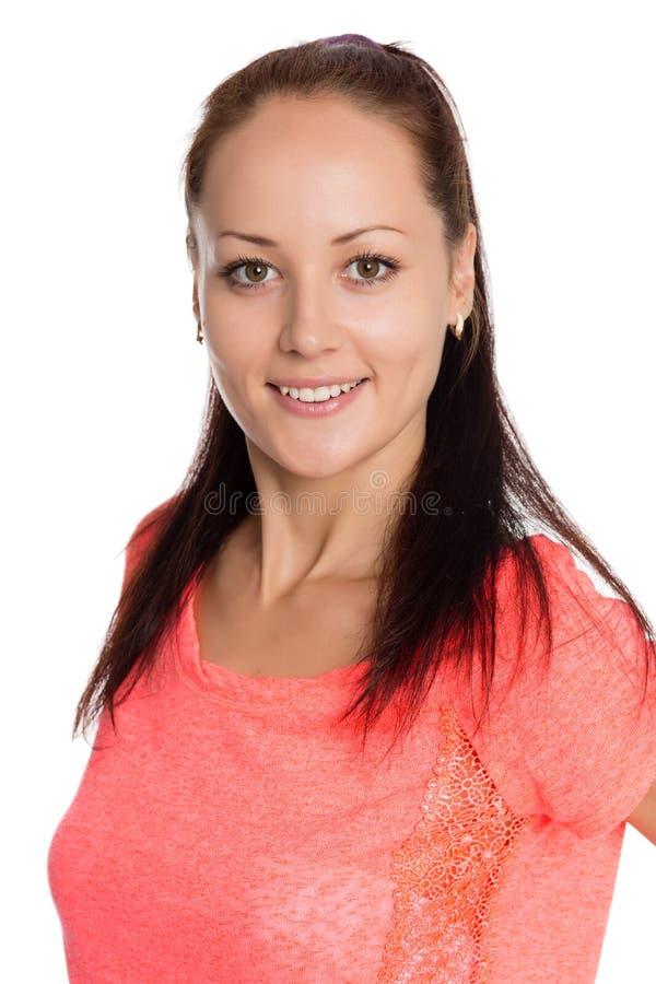 zbliżenia dziewczyny portreta ja target3_0_ fotografia royalty free