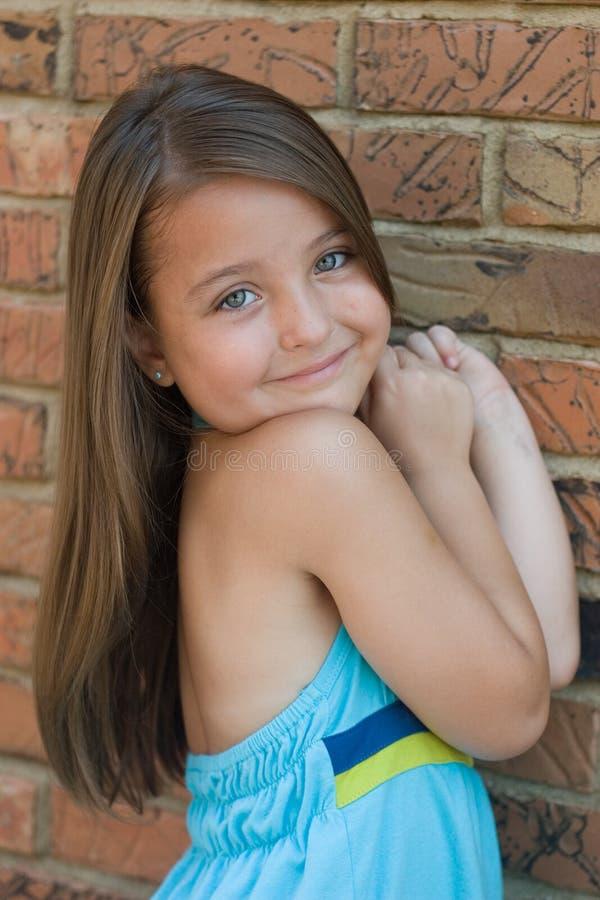 zbliżenia dziewczyny portreta ja target3_0_ obraz stock