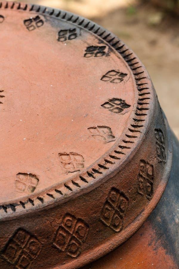 Zbliżenia earthenware Tajlandzki garncarstwo zdjęcia stock