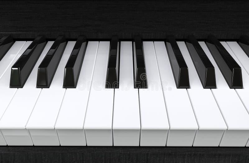 zbliżenia ekstremum wpisuje pianino zdjęcie stock