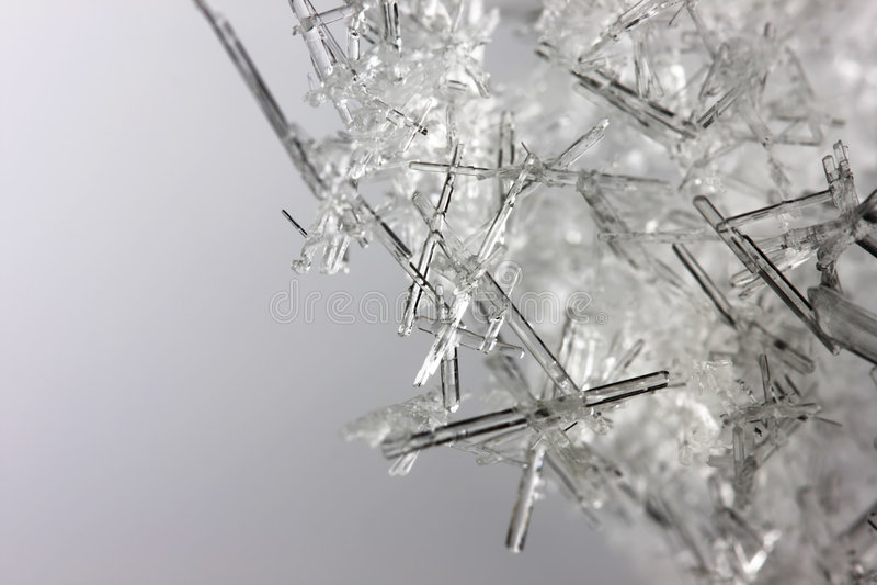 zbliżenia kryształów lód obraz stock