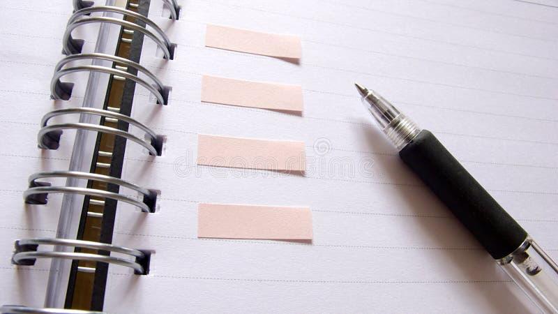 zbliżenia notatnika pióro fotografia stock