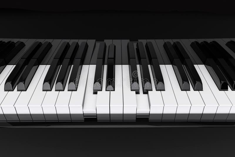 Zbliżenia Pianina klucze royalty ilustracja