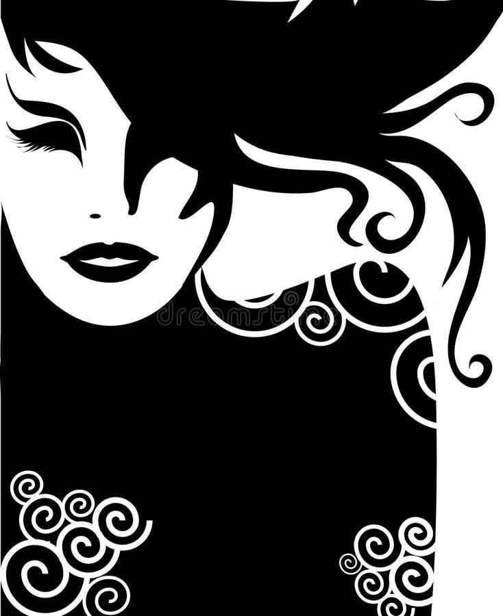 zbliżenia portreta wektoru kobieta ilustracji