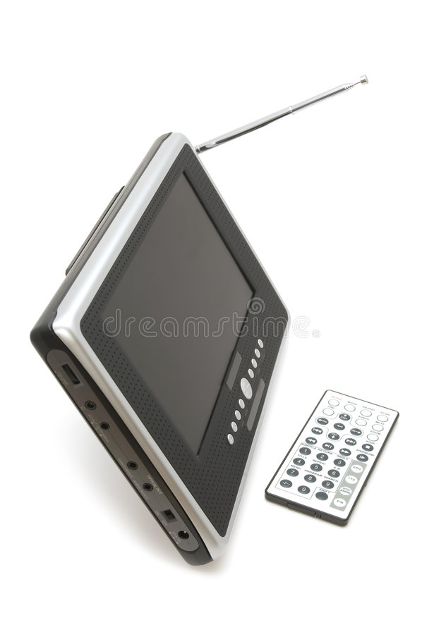 zbliżenia przenośne urządzenie tv obraz royalty free
