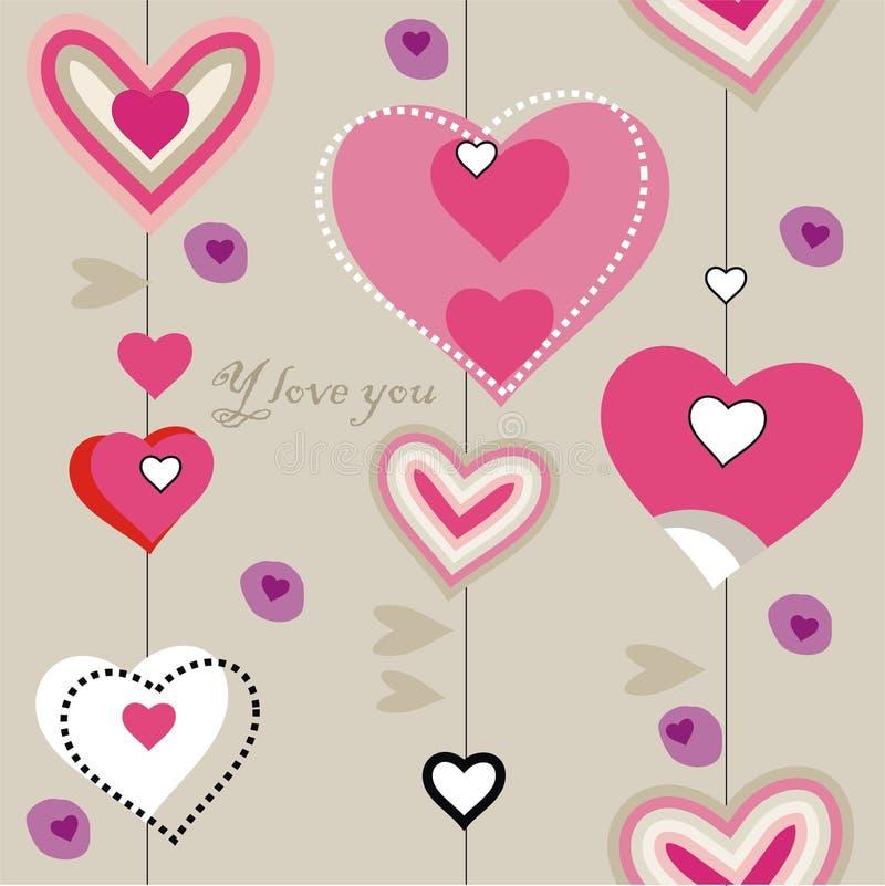 zbliżenia serca wzór ilustracji