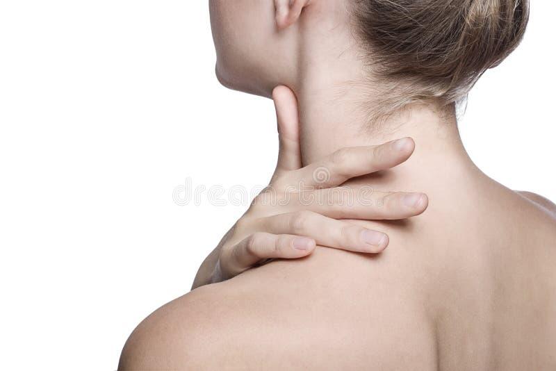 zbliżenia szyi strzału ramię zdjęcie stock