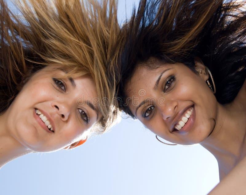 zbliżenia twarzy przyjaciele fotografia stock