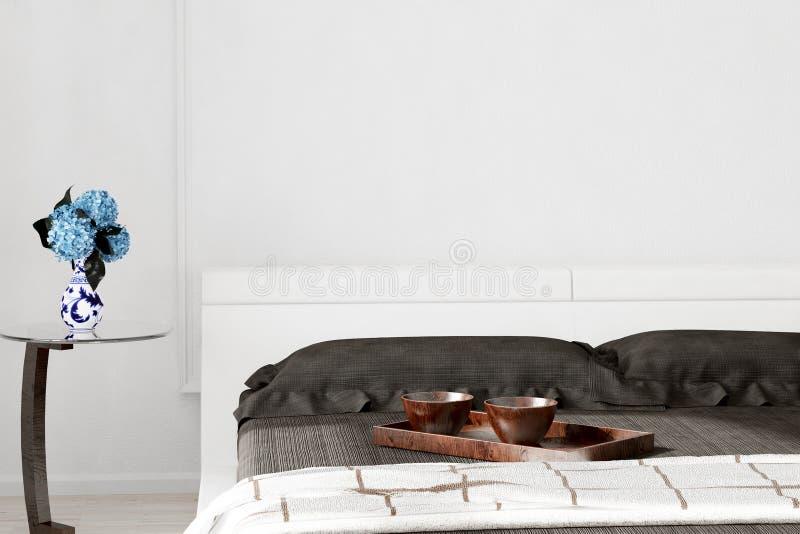 Zbliżenie łóżko z pucharami ilustracji