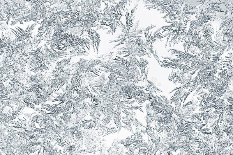 Zbliżenie śnieżni lub lodowi kryształy zdjęcie stock