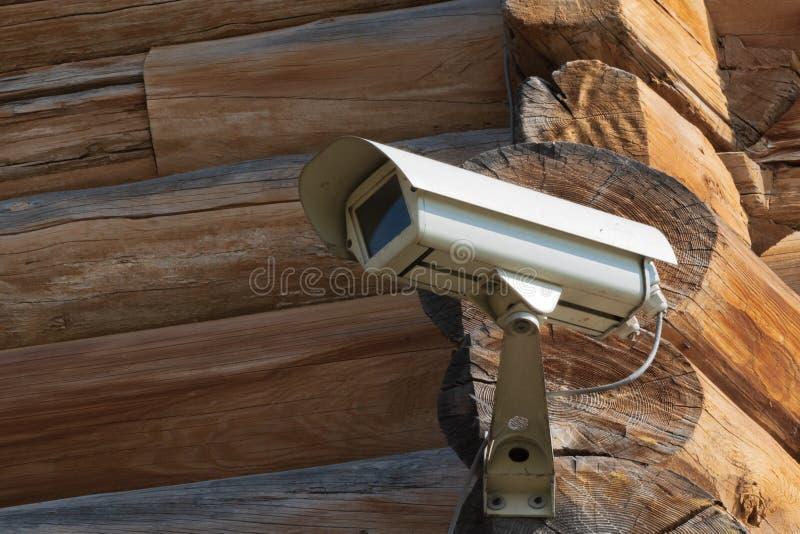 Zbliżenie śrubujący kąt bela dom kamera wideo fotografia stock