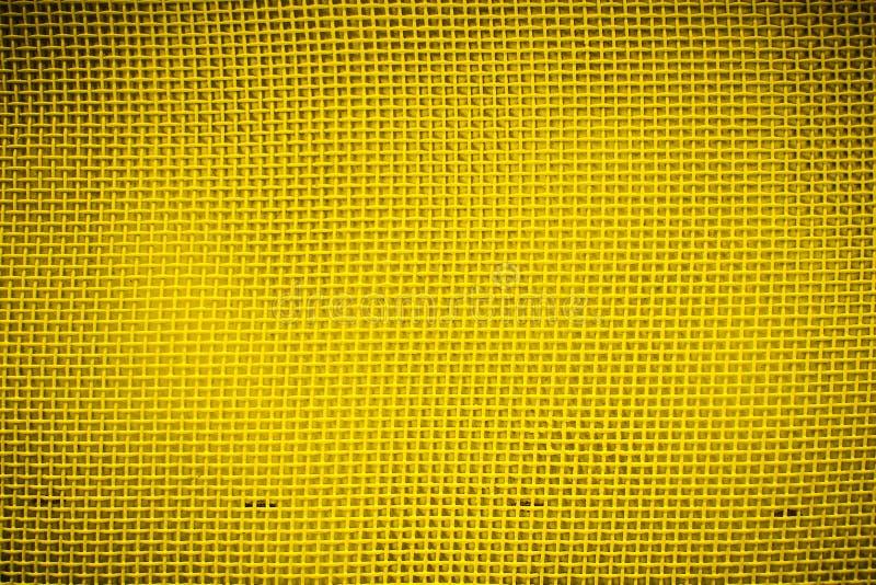 Zbliżenie żółta siatka z vignetting fotografia stock