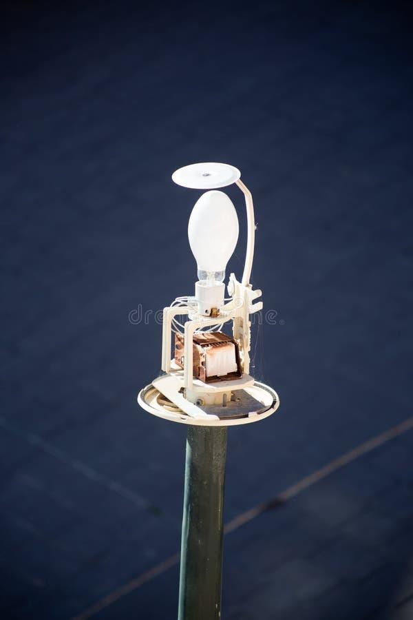 Zbliżenie żarówki latarnia uliczna fotografia stock