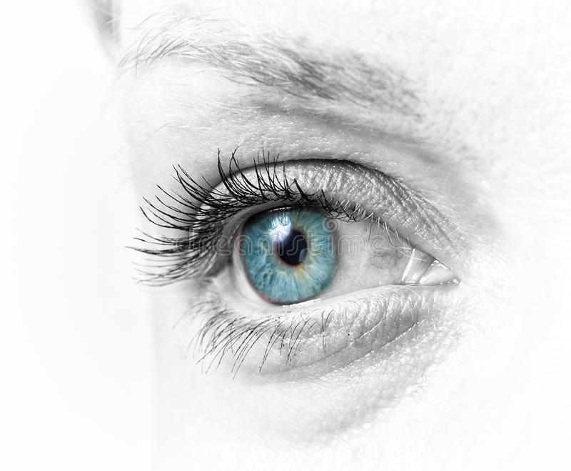 Zbliżenie żeński oko zdjęcie royalty free