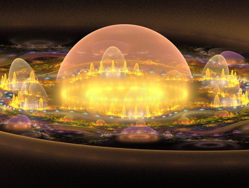 zbliżenie 3 d miasta ilustracji