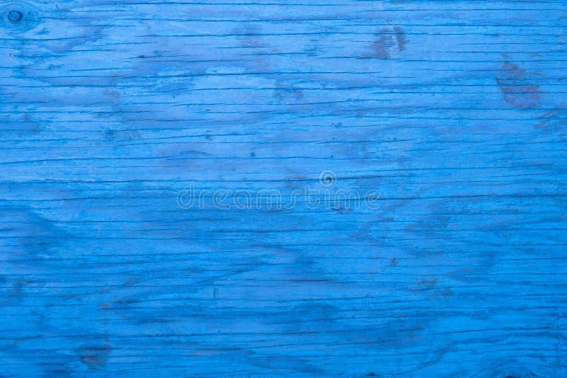 Zbliżenie błękitny drewniany tło fotografia royalty free
