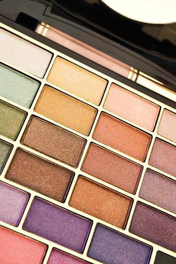 zbliżenie barwi makeup obrazy stock