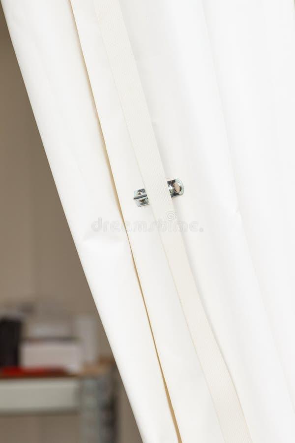 Zbliżenie biały brezent robić wodoodporny materiał zasłona lub zdjęcia royalty free