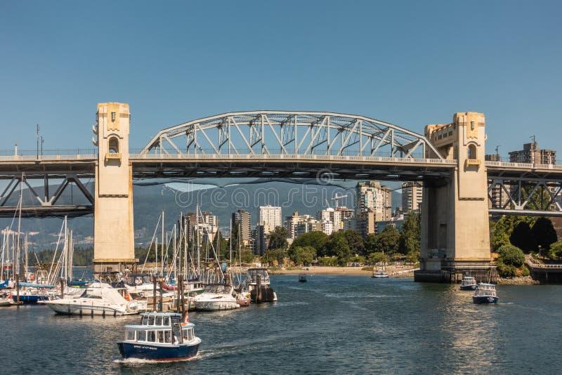 Zbliżenie Burrard ulicy most, Vancouver Kanada obraz royalty free