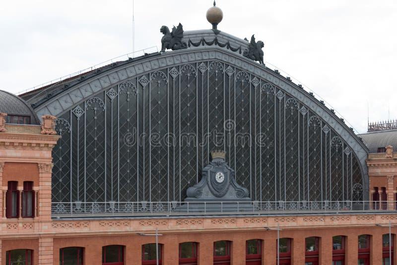 Zbliżenie centrali stacja w Madryt zdjęcia royalty free