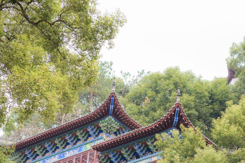 Zbliżenie Chińscy świątynni okapy W niebie zdjęcie stock