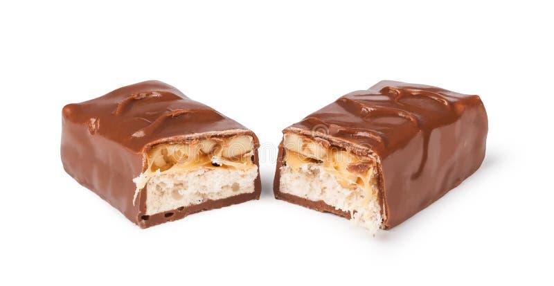 Zbliżenie czekoladowy bar obraz royalty free