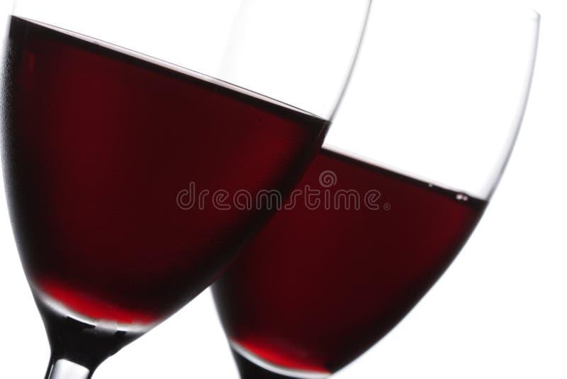 zbliżenie czerwone wino dwa szkła fotografia royalty free