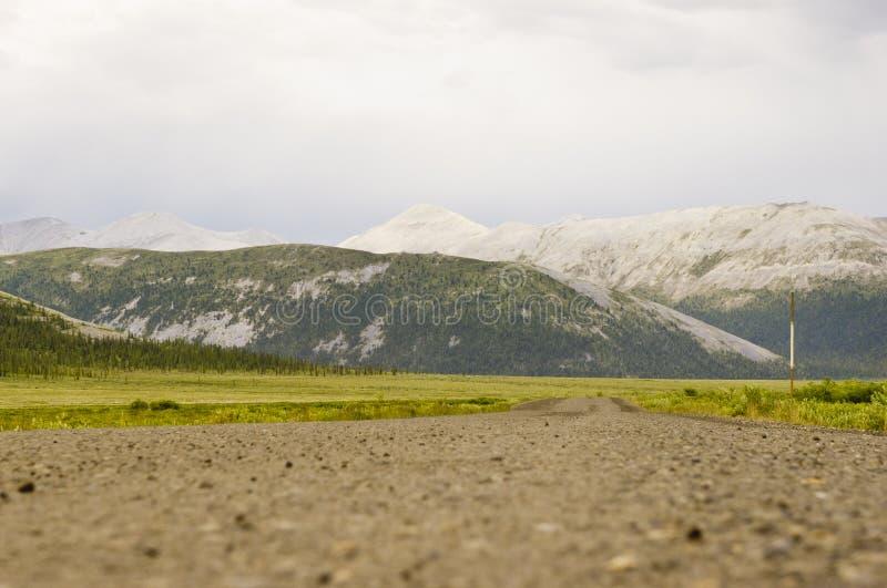 Zbliżenie Dempster autostrady powierzchnia fotografia stock