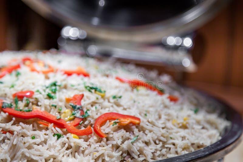 Zbliżenie dla Arabskiego gotującego ryżowego biryani zdjęcie royalty free