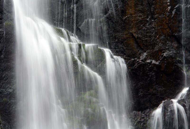 zbliżenie do wodospadu zdjęcia stock