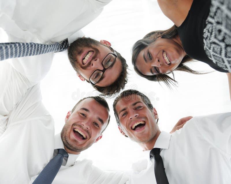 zbliżenie Dolny widok przedsiębiorcy sukces zdjęcie stock